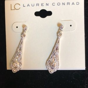 Hanging silver earrings by lc Lauren Conrad